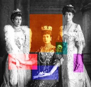 Alexandra zwischen ihren Töchtern Louise & Victoria